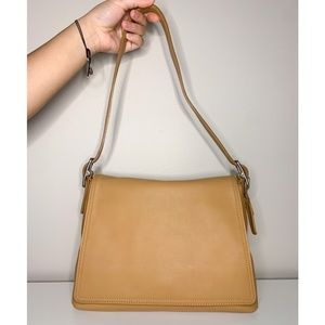 Vintage leather Coach shoulder bag